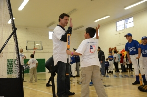 DODGERS CARAVAN AT DODGERS DREAMFIELD AT LA BOYS AND GIRLS CLUB
