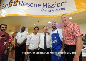 ANDRE ETHIER AT UNION RESCUE MISSION